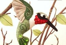 ~DIY Felt Crafts~Sewn~ / I have lots of felt-craft boards. I love them. Happy stitching!