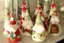 ~3~DIY Santas~Elves~Gnomes~ / Instructions & Inspiration. Pin freely!