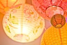 ~DIY Lighting~Paper Plus~ / Paper, Oriental, fabric, glass, seashell, and lanterns. Pin all you want.