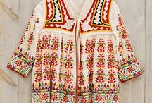 ~Embroidered Tunics & Tops.~ / Embroidered clothing has always been a favorite of mine. Whether they are from India, Pakistan, Mexico, or the most beautiful traditional embroidery of the Ukraine, embroidered garments hold a magic that can only come from knowing that you are wrapped in the handwork of an artist...of two inspired human hands.