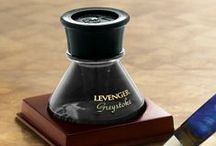 An Inky Situation / Levenger offers a vast selection of fountain pen cartridges, bottled ink in a variety of brilliant colors, and rollerball and ballpoint refills. Fuel your writing instruments here! / by Levenger