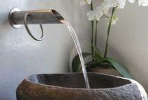 Łazienki / Bathrooms / Łazienki inspirowane kamieniem.  Bathrooms inspired by stone.