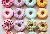 Donuts Donuts / Just a board full of donuts
