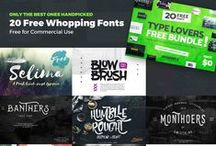 Design | Fonts / Free and Premium fonts to use on your next creative design project. Script, vintage, fun, handwritten and modern fonts are included.