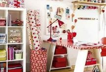 Craft Spaces  / Awesome ideas for organising your crafty space :) Wish mine looked half as good as this.
