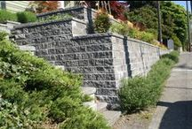 Retaining Wall Ideas / This board shows a variety of retaining wall projects using segmental retaining walls from Mutual Materials.