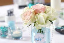 türkise Hochzeitsdeko - turquoise wedding / Ideen für eine Hochzeitsdekoration in türkis