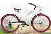 Olympia / What's white, black and red all over? An awesome bike with a chic accent color!