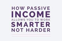 Business | Passive Income / Ideas and articles for creating multiple streams of passive income for creative entrepreneurs, graphic designers, and bloggers. From side-hustle to full-time business