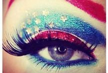 Patriotic Makeup  and Nails Inspo / Patriotic makeup and nail ideas perfect for Memorial Day and July 4th.