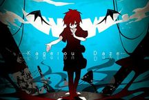 """Mekakucity Actors / The incidents which occurred on August 14th and 15th bring a group of young boys and girls together... They are members of a group they call themselves the """"Mekakushi Dan"""" (Blindfold Organization) and each member possesses a strange power involving their eyes. Will the members of this peculiar organization be able to solve the mysteries behind these incidents and see the truth?"""