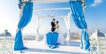 Santorini Wedding Photographer Alexander Hadji / Breathtaking wedding photos. Bright colours, true emotions.
