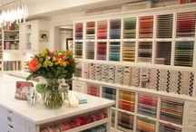 Craft Rooms / Craft room decorating and storage ideas