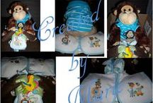 Baby Shower Gifts - Diaper Gifts - Let your imagination Go. / These are Diapers Gifts I have personnaly made for gifts.