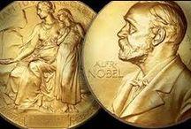 Nobel Prize / De Nobelprijs voor de Literatuur wordt jaarlijks toegekend aan een auteur, die, in de woorden van Alfred Nobel, het meest opmerkelijke werk met een idealistische trend heeft geschreven. Het werk refereert hier aan het oeuvre van de auteur in het geheel en niet aan een werk specifiek, alhoewel er soms wel een afzonderlijk werk wordt aangehaald bij de uitreiking van de prijs. De Zweedse Academie beslist elk jaar wie de prijs toegekend krijgt en publiceert deze naam rond begin oktober.