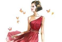 dazzle! / drop-dead gorgeous fashion illustration (to feast the eye and learn by imitation...)