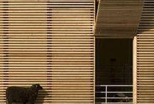 > Wood facade