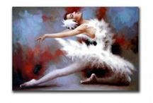 Dance - Oil Paintings / These beautiful abstract paintings cover the subject of Dancing whether be it tango, ballet, couple dance, salsa or modern of dancing. These paintings can bring walls to life when used as a wall decoration.
