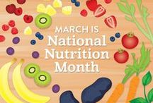 March is National Nutrition Month / March is National Nutrition Month and here is a collection of our favorite healthy foods and recipes for a healthy lifestyle.