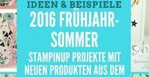 2016 Frühjahr Sommer Stampin'UP! Ideen aus Papier Stempel Katalog Occasion  Ideas / Sammlungen von Ideen die mit den Produkten vom StampinUP aus dem Frühjahr-Sommerkatalog 2016 erstellt wurden