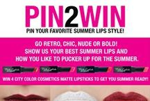 Summer Lips Contest! / Pin your favorite summer lips style to our Summer lips board to enter! Go retro, chic, nude, bold and more! Show us your best summer lips and how you like to pucker up for the summer.