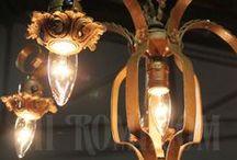 コロニアル照明*アイアンシャンデリア*特注*レストレーション / colonial*Iron Chandelier*Special orders*Restoration / 当店でレストレーションした1920年~30年代に作られたアイアン製のシャンデリア。