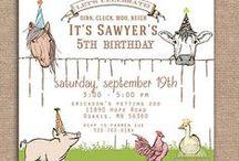 Barnyard birthday party for Antonia