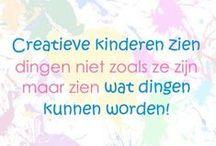 Creatieve quotes met Sien en Co ❣ / De mooiste en leukste quotes over creativiteit en kinderen bij elkaar op 1 bord.