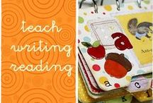 teach letters and reading / preschool and kindergarden emergent reader and writer. School reading and writing tools