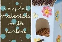 milk carton board crafts