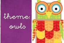 owl theme / to learn letter o; owl theme; forest theme or fall: lapbooks; craft paper plates, toilet paper roll, foam, mask; maths, language