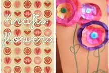 flowers kraft / kraft for kids with flowers