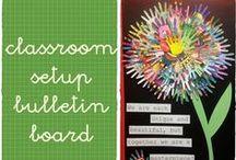 classroom setup - bulletin boards