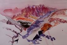 Anthea Martin watercolours / watercolour painting in the landscape