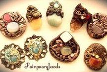 ๑ஐ๑Pendants,earrings and donuts๑ஐ๑ / Cammei,pendenti in pasta polimerica e pietre dure