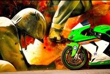 Kawa Racers by Costas Tsabunaris / An amazing couple of racebikes by Costas Tsabunaris and Thodoris Kapodistrias