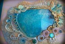 ๑ஐ๑Enchanted Fairy jewelry box๑ஐ๑ / Portagioielli realizzati in legno dipinto e dettagli preziosi. OOAK Interamente handmade