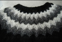 My knitting / knitting projects of a complete beginner, 100% made in Iceland.