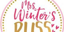 Mrs.Winter's Bliss Store and Blog / You will find here resources I have created in my Teachers Pay Teachers store, along with latest posts from my blog where you can see how we use products in the classroom.