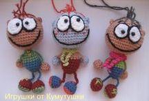 gehaakte sleutelhangers/crochet keychains