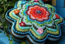 crochet (pin) cushions, pillows