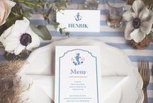 Nautical Wedding by Calligraphen / Wedding with Nautical theme  #skärgård #marint #marinttema #wedding #bröllop #bryllup #inbjudningskort #strationary #invitasjoner #blått
