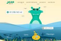 Julius – der kleine Helfer für Kinder in der Narbentherapie / Der kleine Helfer Julius soll Kindern (und den Eltern) durch die schwierige Zeit nach einem Unfall (z. B. nach einer Verbrühung) helfen. www.julius-taucht-auf.de