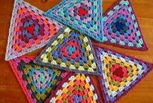crochet triangles