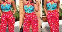 Jump suit / Combination of tops and bottom that will bring out a woman's figure