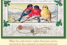 Christmas Cards / Merck Family's Old World Christmas Cards are made in the USA.