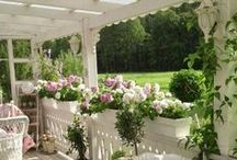Pretty Porches and Sunrooms / Pretty places to stay and sit a while...