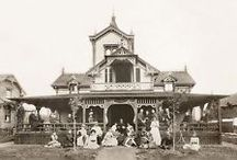 Victorian Homes in Black & White
