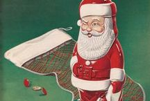 Vintage Christmas Ads, Illustrations, and Decor