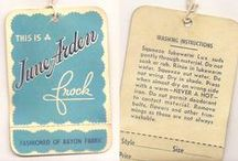 Vintage Fashion Labels and Tags / Images of vintage fashion labels and tags